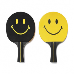 CHINATOWN MARKET : SMILEY PING PONG PADDLE SET (YELLOW) CTM-PBB-YELLOW