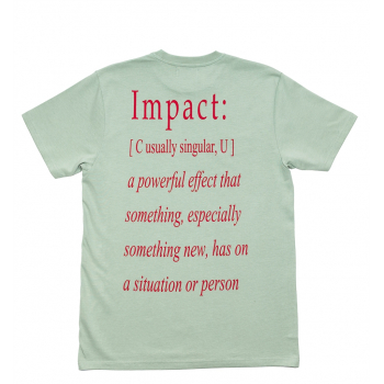 "IMPACT : DEFINITION TEE ""GREEN LILY"""