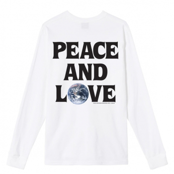 STÜSSY : PEACE & LOVE LS TEE