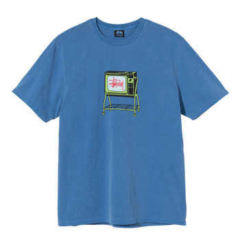 STUSSY : ROLLING TV PIGMENT DYED TEE