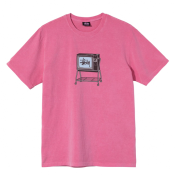 STUSSY : ROLLINGTV PIGMENT DYED TEE